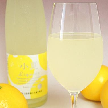 アルコール分7%、小夏果汁20%の熱処理をしていない生酒です【小夏リキュール】