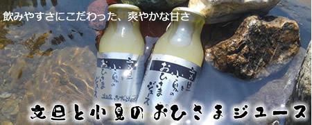 飲み口爽やかなオリジナルジュース【文旦と小夏のおひさまジュース】