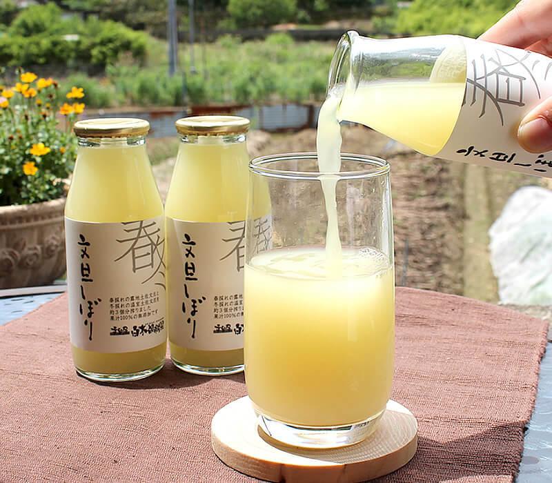 丸搾り無添加ストレート果汁100%ジュース、白木果樹園のオリジナル商品