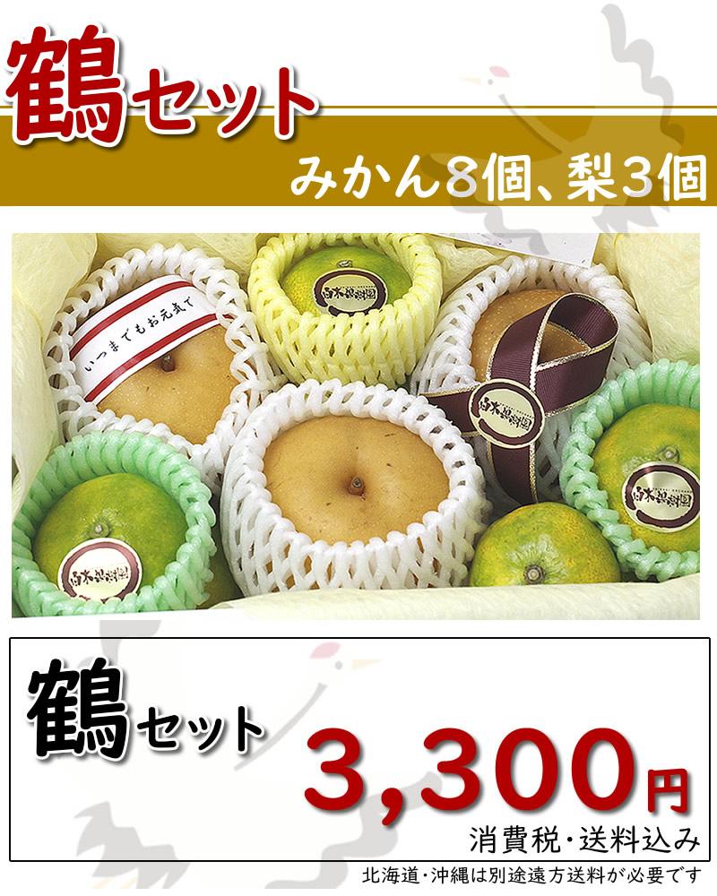 みかんと梨の鶴セット